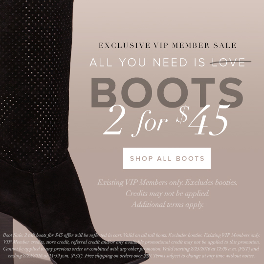 Boots: 2 for $45